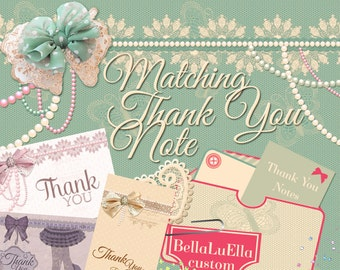 Matching Thank You Note, Matching Save the Date or Additional Card