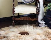 Thick Natural Wool Felt Rug Chrysanthemum - elenasfelting