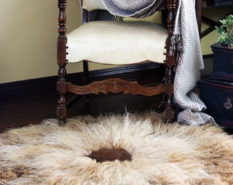 SALE (REGULAR 750USD) - Thick Natural Wool Felt Rug