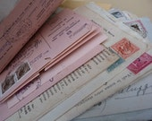Italian paper ephemera pack - Antique envelopes, documents, cards, letters, receipts and more