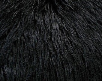 Mongolian Black Faux Fur 18x20 Photography Prop