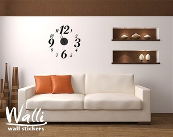 Numbers wall decal clock for home decor