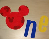 Mickey Mouse Clubhouse Inspired 1st/First Birthday Iron On Applique DIY