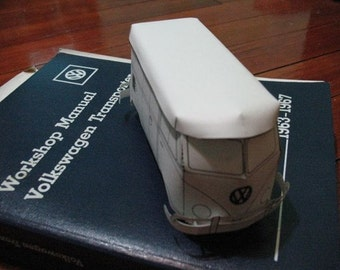Paper VW Bus Model Kit (Panel Van) Instant Download