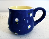 Honey Jar Mug - Royal Blue and Light Yellow