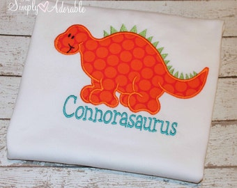 Boy's Dinosaur Shirt, Dinosaur Birthday Shirt, Personalized Dinosaur Shirt, Dino Tee