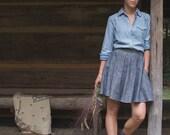 Natchez Circle Skirt // Organic Cotton and Hemp Chambray
