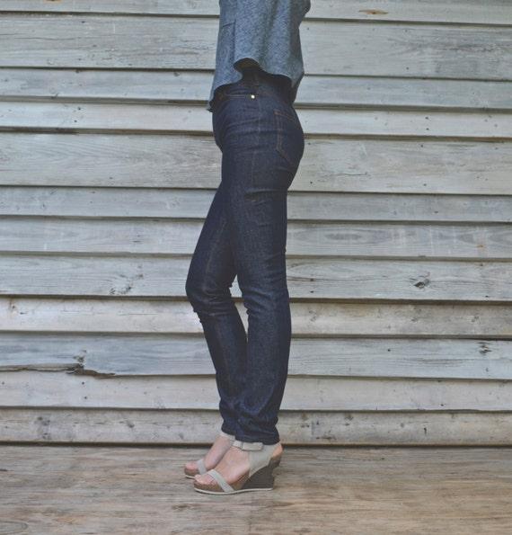 Blue High Waisted Classic // Made to Measure // Custom Jeans