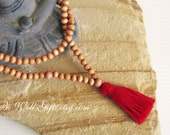 108 Bead Mala, Meditation Necklace, Traditional Style Mala, Bohemian Style,Yoga Jewelry, Tassel Mala