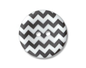 Riley Blake Carded Chevron Button Set of 4 in Black