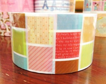 Deco Tape adhesive Stickers - Colorful Patchwork DTB149