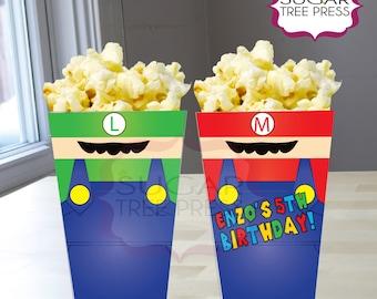24 Super Mario Inspired Popcorn Boxes