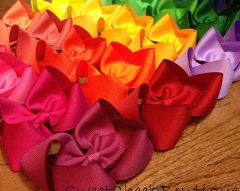 School Bows, Uniform hair bows, matching bows, YOU choose 10 bows, hair bow set, back to school, school bow sets, school uniform bows