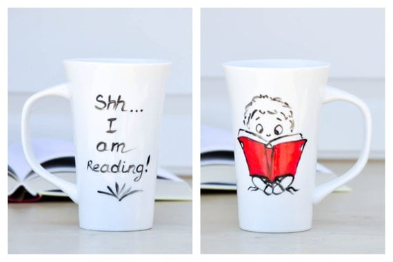 Reading Funny Quote Mug - Book Lover coffee cup - book worm Coffee Mug - Literary gift