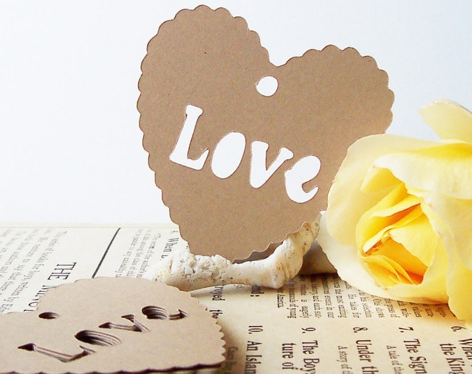 25 LOVE Tags•Gift Tags•Shower Favor Tags•Favor Tags•Heart Tags•Wedding Tags