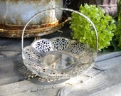 Lacy Silver basket tray