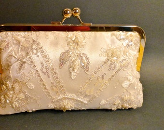 Bridal Clutch Beaded and Sequined Clutch