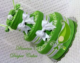 Peas in a Pod Baby Diaper Cake Girls Boys Neutral Single Twins Triplets Light or Dark Skin Shower Gift or Centerpiece