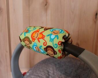 Monkeys Infant Car Seat Padded Handle Cover