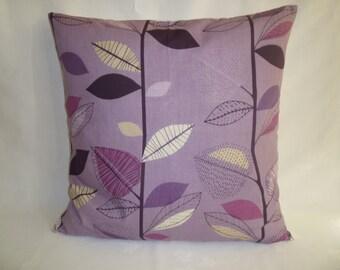 "BIG 20"" Funky Purple Damson Grape Gray Designer Cotton Cushion Cover's. Pillowcases Shams Slips"