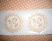 Baby   Stickers Seals - Tiny Miracle Gift From God -  Baby Shower - Set of Twelve