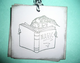 Harry Potter - Magic  Book Tags - Spells  -  Childrens Tags - Magic - Wizard - Set of Six