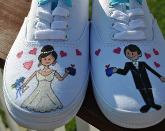 Wedding Sneakers womens size 9.5 - Sold
