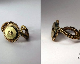 Steampunk ring 1