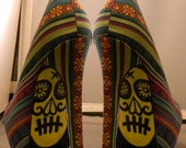 Day of the dead hand painted shoes