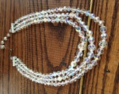 Austrian Crystal Three Strand Necklace, Vintage