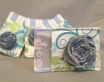 Mother's Day Gift Card Holder in Teals, Greens and Denim