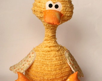 Duck softie, plush, soft toy, PDF Sewing Pattern Direct Download - 'Dimitri'