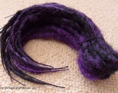 Purple and black knotty synthetic dread layered accent kit
