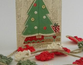Christmas Crochet flower garland