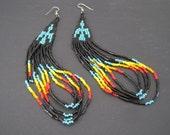Vintage Navajo Seed Bead Earrings