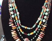 Southwest four strand necklace