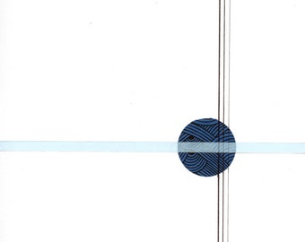"Circle and Line 4, 8"" x 11"" small, minimalist drawing"