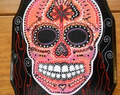 Deamon Skull in Red and B...
