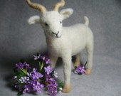 Little White Goat, Needle Felted One of a KInd