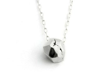 The Im-Perfect Faceted Necklace in Silver