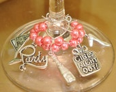 Girls Night Out Wine Glass Charms - Set of 5