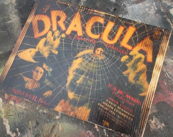 Dracula Wooden Wall Art (image transfer)