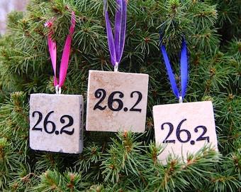 26.2 Marathoner Tile Ornament Mixed Font