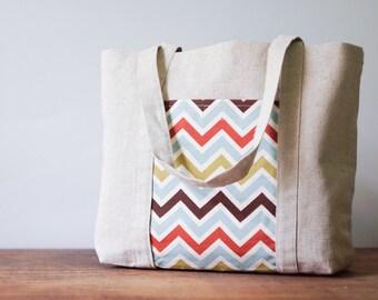 Women bag. Beach bag. Eco linen handmade bag with pockets. Gift. Shoulder purse.Shopping bag.Tote bag.Linen handbag.Weekender bag.Diaper bag