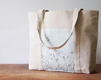 Women bag. Beach bag. Eco linen handmade bag with pockets. Gift. Shoulder bag. Shopping bag.Tote bag.Linen handbag.Weekender bag.Diaper bag