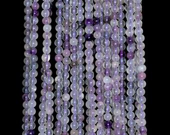 "2mm Purple Fluorite Round beads full strand 16"" Loose Beads P142684"