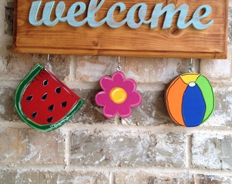 Summer Ornaments for Welcome Sign