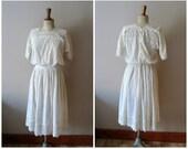 1910s Tea Dress/ Edwardian Lace Lawn Dress