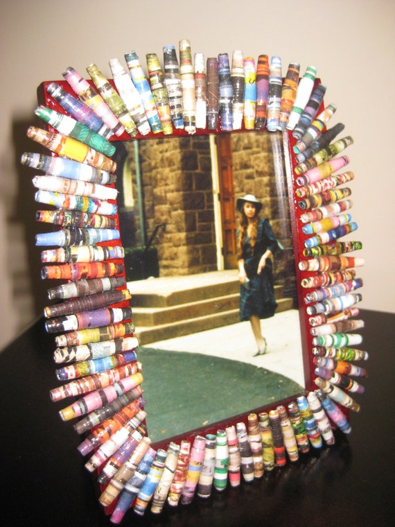 Upcycled Paper Bead Picture Frame