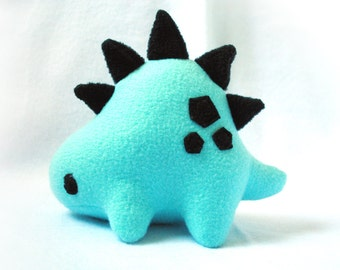 Blue and Black Stegosaurus Dinosaur Plush